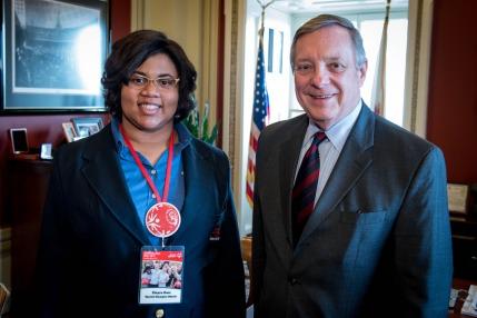 Z with Senator Dick Durbin