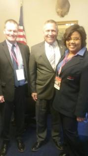 Z with Congressman Mike Bost